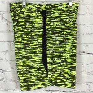 Nike Men's Dri Fit Running Shorts - Medium - Neon